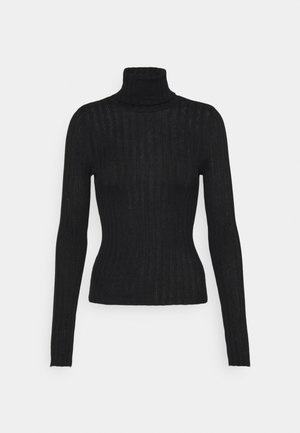 SOLID BODYCON TURTLENECK - Jumper - true black