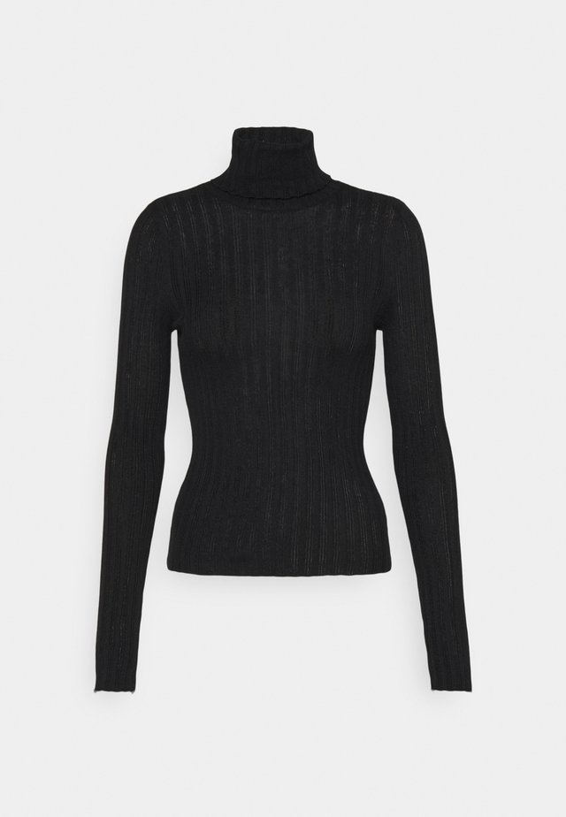 SOLID BODYCON TURTLENECK - Trui - true black