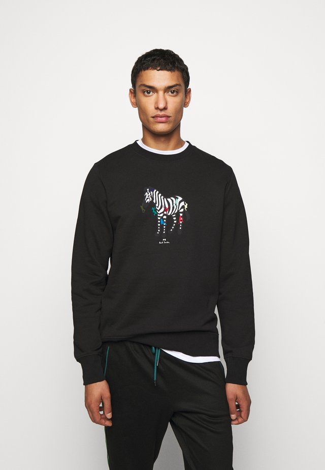 COLORED ZEBRA  - Sweater - black