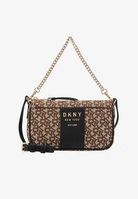 DKNY - NOHO DEMI CROSSBODY - Handtas - chino/black - 5