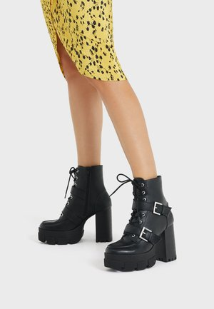 MIT SCHNALLEN - Kovbojské/motorkářské boty - black
