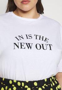Simply Be - SLOGAN - Print T-shirt - white - 5