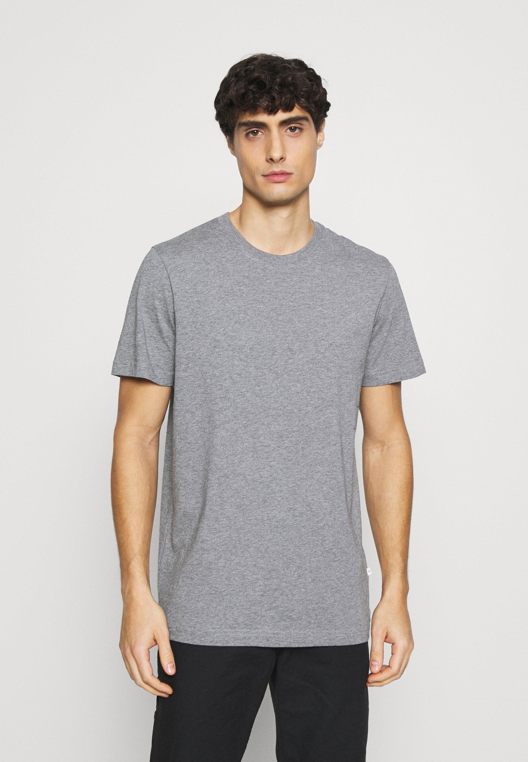 Herrer SLHNORMAN O NECK TEE  - T-shirts basic