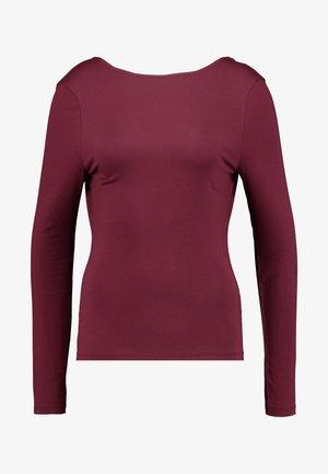 DEEP BACK - Long sleeved top - burgundy