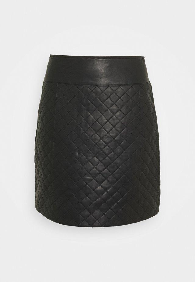 MINI SKIRT - Falda de tubo - black
