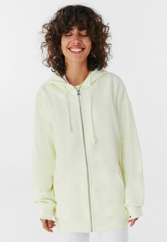 veste en sweat zippée - yellow