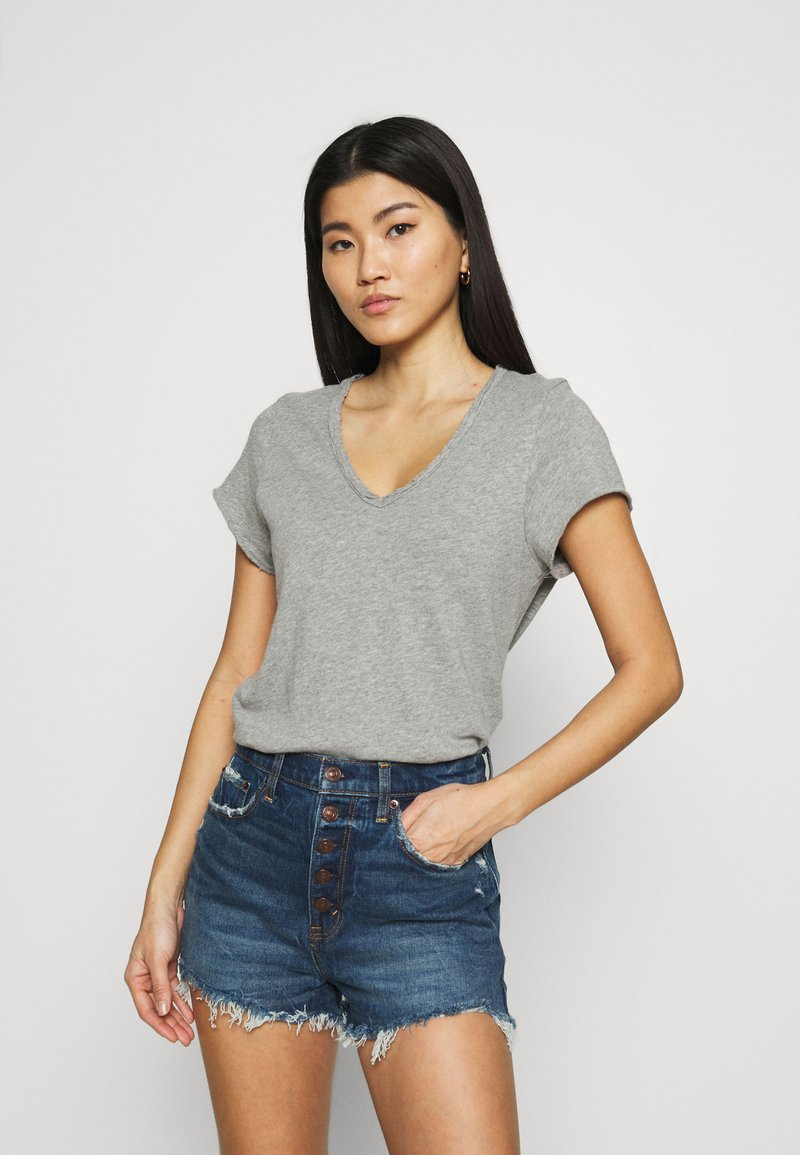 American Vintage - SONOMA - Basic T-shirt - gris chine