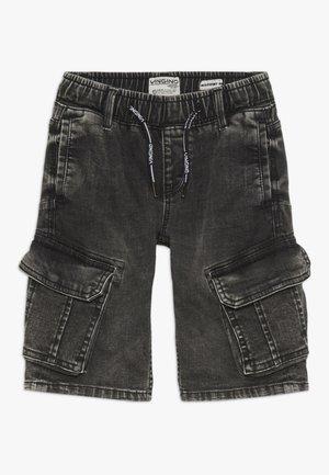 CELDO - Denim shorts - dark grey vintage
