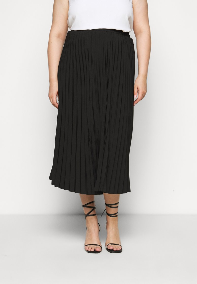Selected Femme Curve - SLFLEXIS MIDI SKIRT - A-line skirt - black