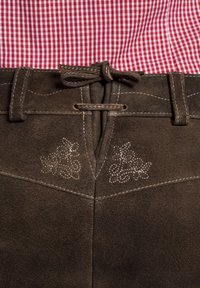 Spieth & Wensky - OXANA - Leather trousers - dark brown - 2