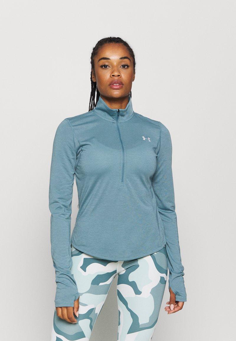 Under Armour - STREAKER HALF ZIP - T-shirt de sport - lichen blue