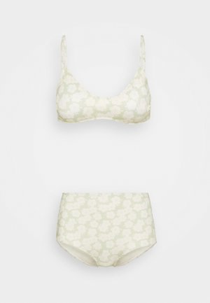 AZAMI AND NILLA RETRO FLOWER SET - Bikini - light green