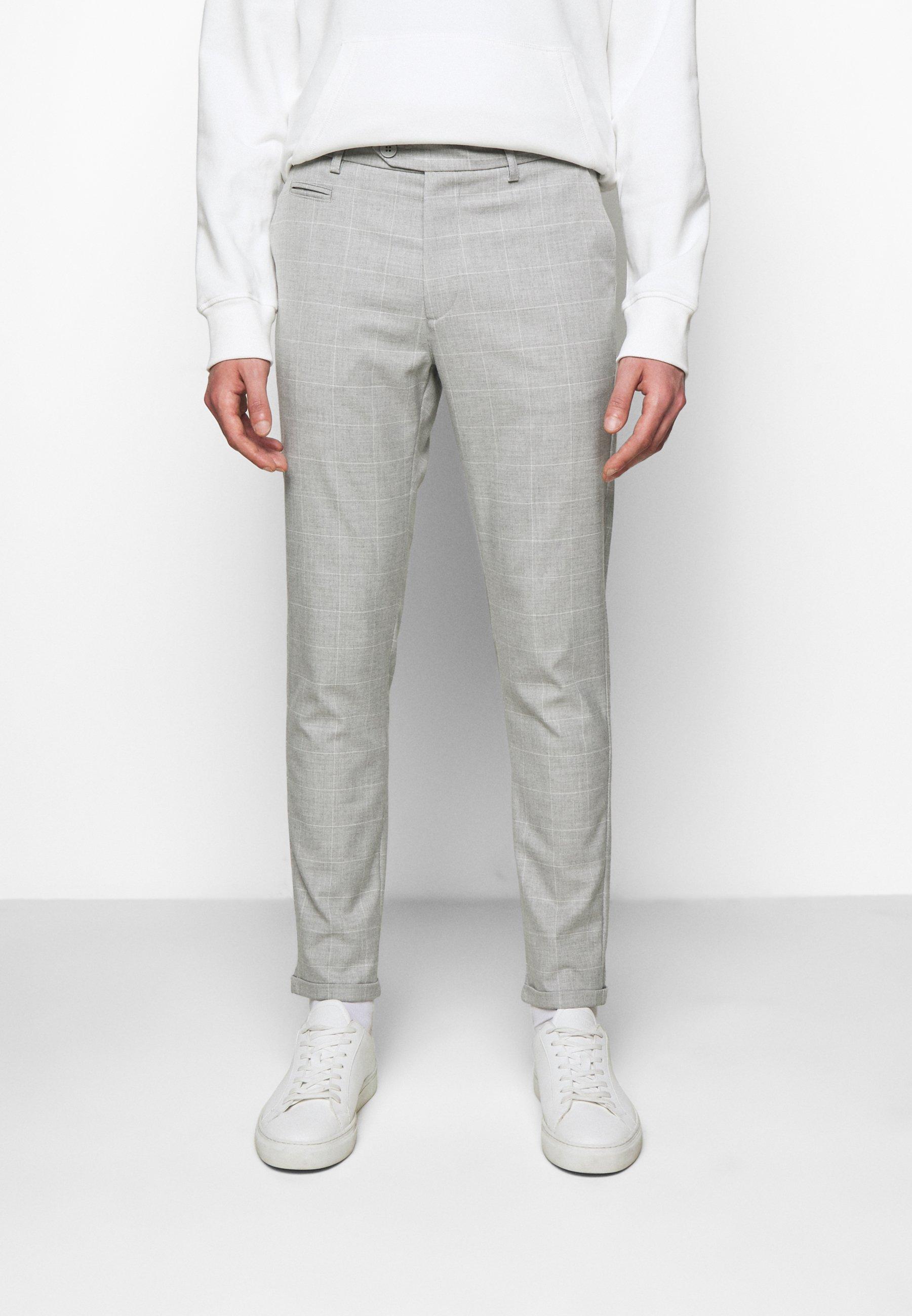 Men COMO CHECK SUIT PANTS - Trousers