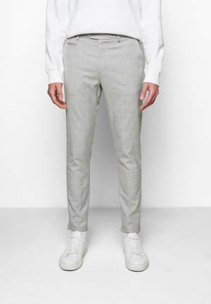 COMO CHECK SUIT PANTS - Broek - grey melange/offwhite