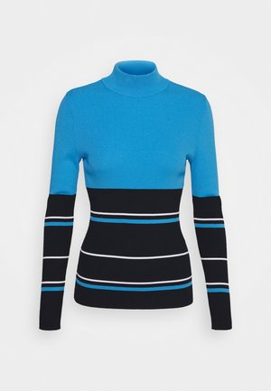 BERTHE STRIPED GOLF - Jumper - navy