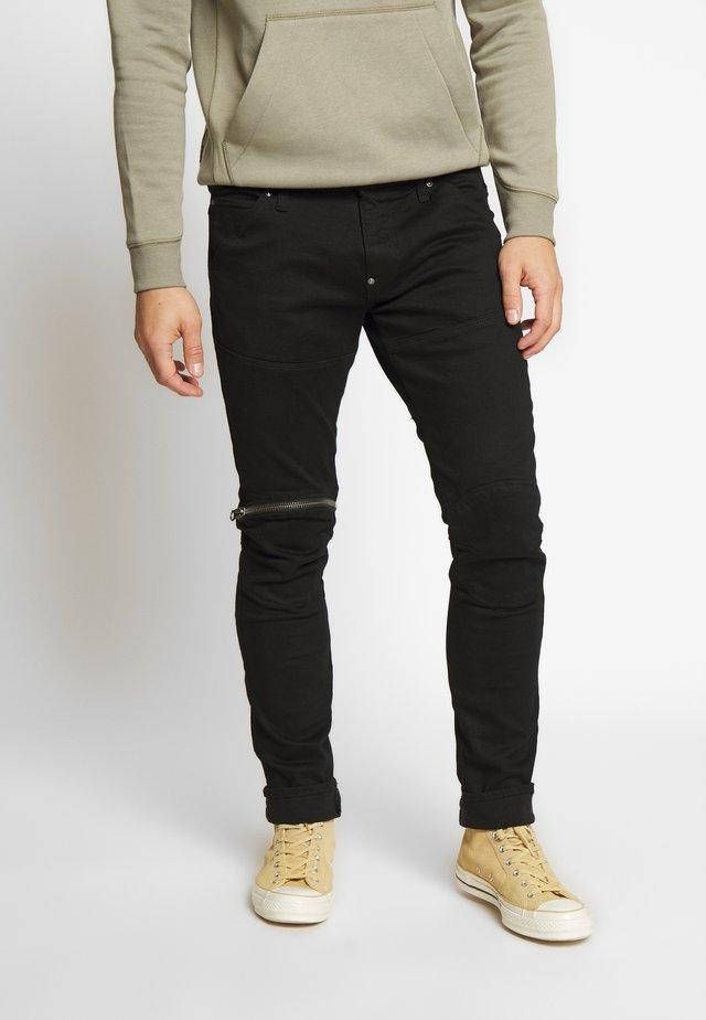 5620 3D SKINNY ZIP - Slim fit jeans - elto nero black