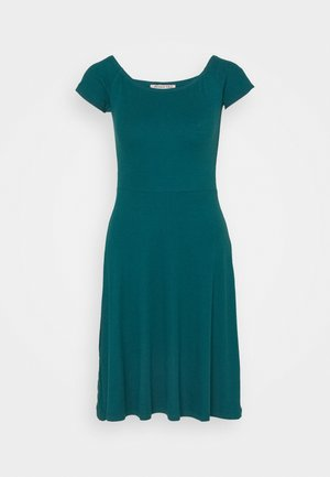 BASIC - Mini dress - Jersey dress - dark green
