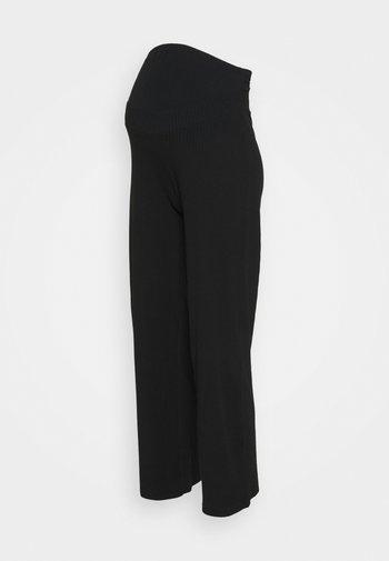 OLMNELLA WIDE PANT - Trousers - black