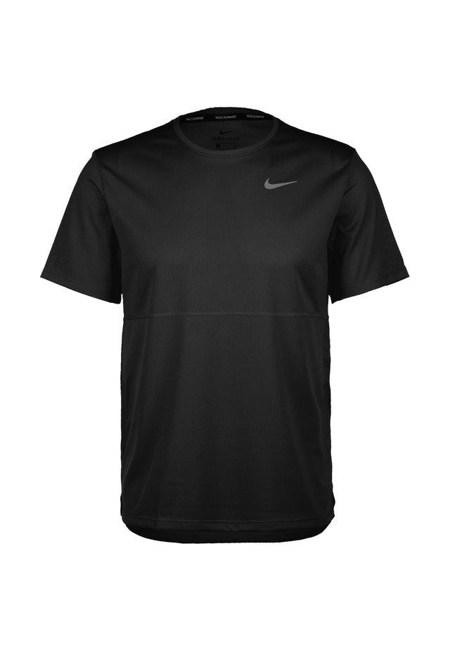 BREATHE - T-shirt basic - black / reflective silver