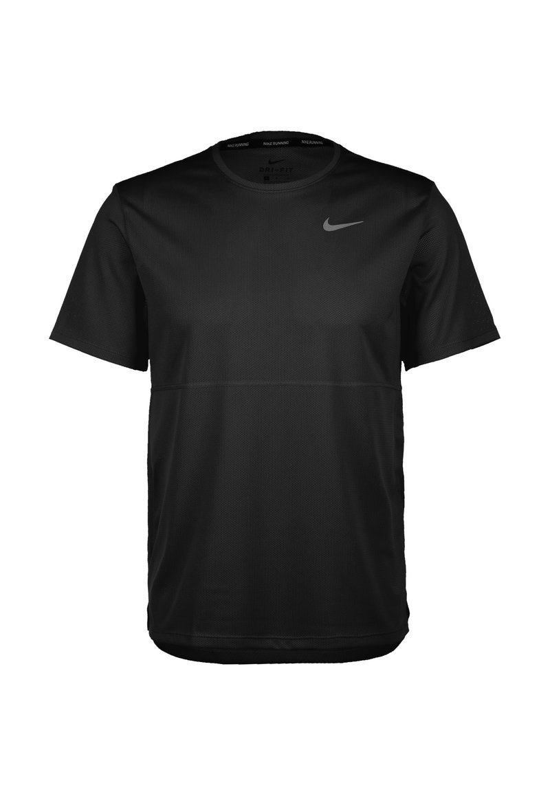 Nike Performance - BREATHE - Basic T-shirt - black / reflective silver
