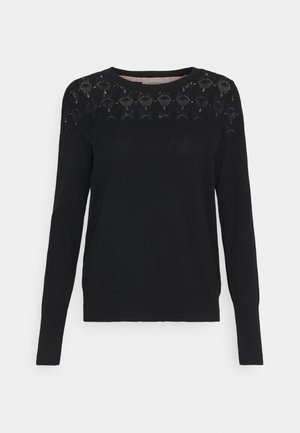 BASIC MELANGE - Jumper - black