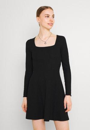 ONLNELLA SQUARE NECK DRESS - Jumper dress - black