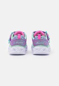 Skechers - HEART LIGHTS - Trainers - lavender/aqua/pink - 2
