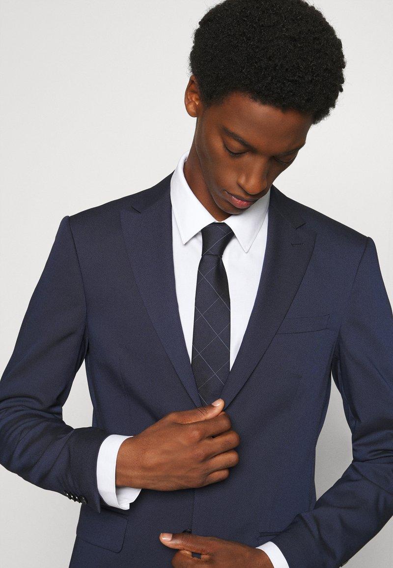 Calvin Klein - LARGE NETTED GRID TIE - Tie - navy