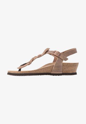 ASHLEY - T-bar sandals - tabacco
