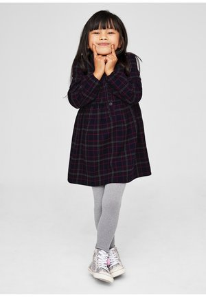 Shirt dress - dark blue check