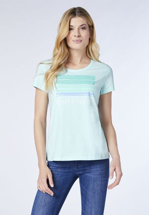 MIT FARBENFROHEM FRONT - Print T-shirt - clearwater