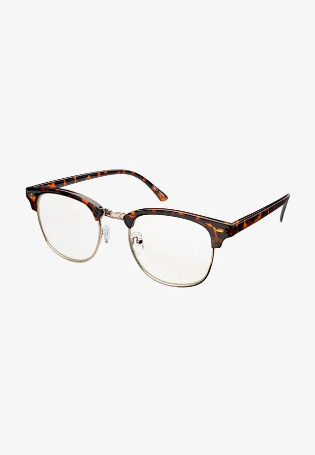 CAIRO BLUE LIGHT GLASSES - Sunglasses - tortoise