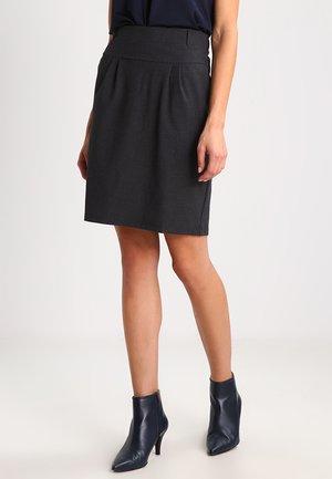 JILLIAN  - Puffball skirt - dark grey melange