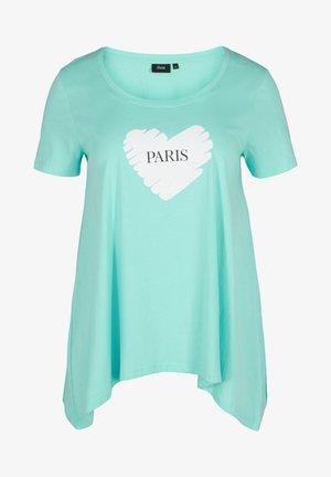 Print T-shirt - aqua sky paris