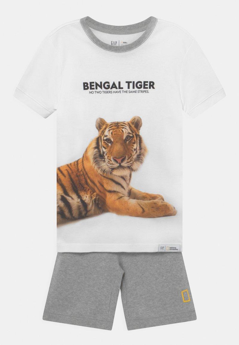 GAP - BOY NATIONAL GEOGRAPHIC TIGER - Pyjama set - optic white