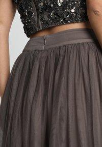 Lace & Beads - MARIKO SKIRT - Maxi sukně - stone - 3