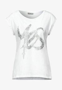 Street One - MIT SCHIMMER PRINT - Print T-shirt - weiß - 3
