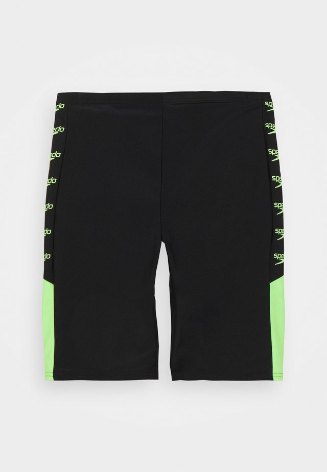 BOOM LOGO SPLICE JAMMER - Swimming shorts - black/zest green