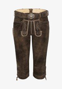 Spieth & Wensky - OTTFRIED - Leather trousers - brown - 5