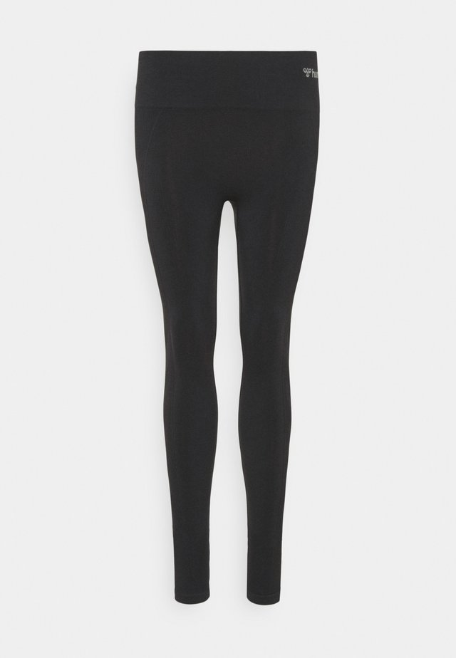 SEAMLESS HIGH WAIST  - Collants - black