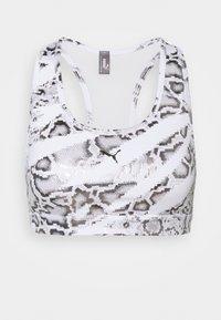MID IMPACT 4KEEPS GRAPHIC - Medium support sports bra - white/castlerock