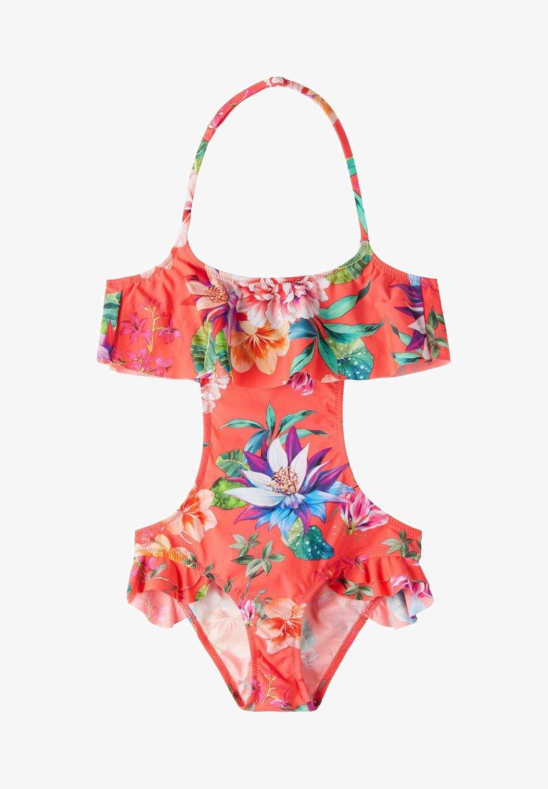 Calzedonia - LISBONA - Swimsuit - flowers glossy red
