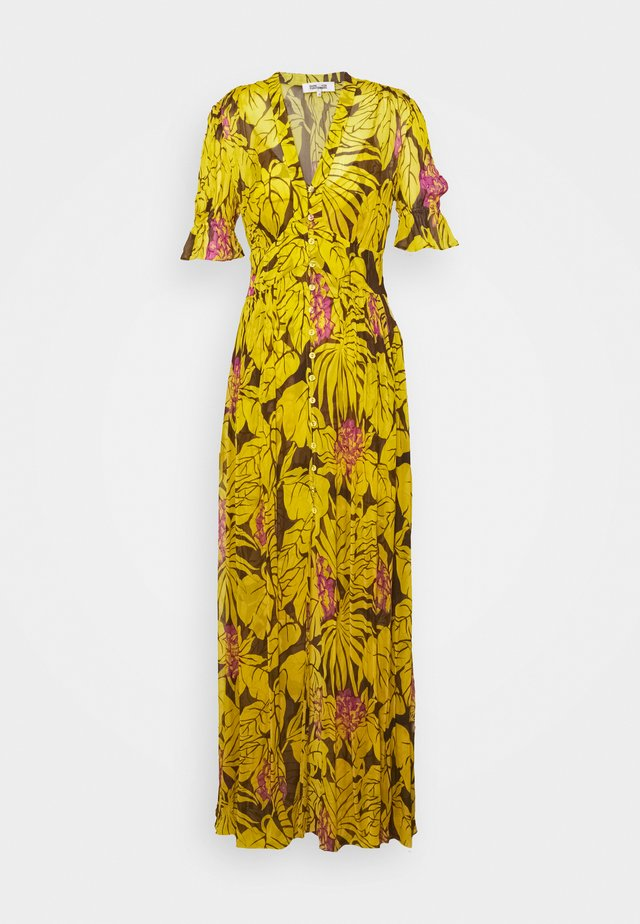ERICA LONG - Vestito lungo - palm large yellow
