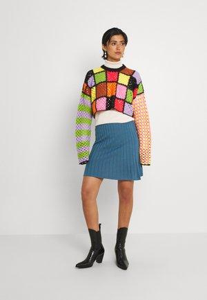 VIPOPSA SHORT SKIRT - A-line skirt - colony blue