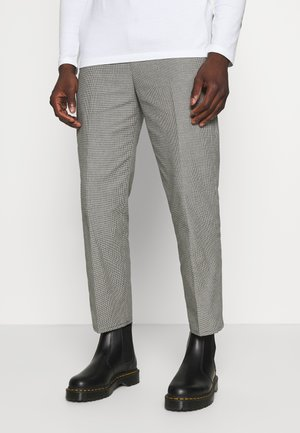 TUCKER CHECKED TROUSERS - Trousers - black