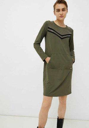 Jersey dress - dunkelgrün