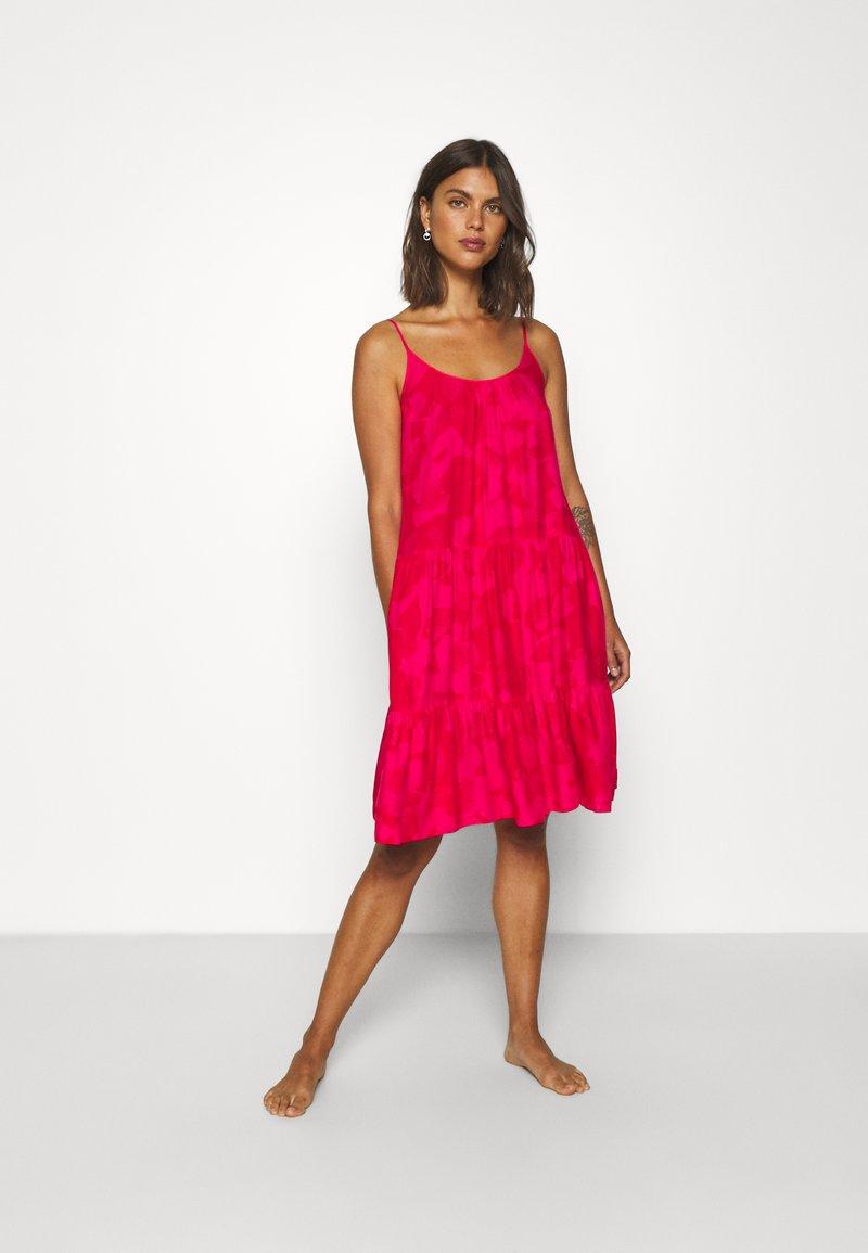 Marks & Spencer London - FLORL STRAP MINI - Nightie - pink mix