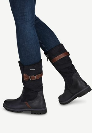 Boots - navy/mocca