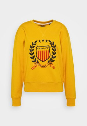 CREST NECK  - Sweatshirt - ivy gold
