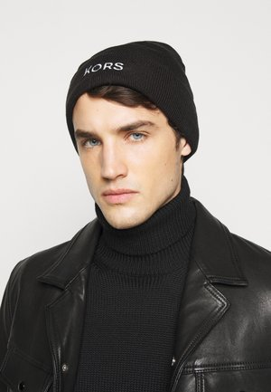 EMBROIDERED CUFF HAT UNISEX - Huer - black